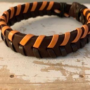 Men's Genuine Leather Adjustable Bracelet